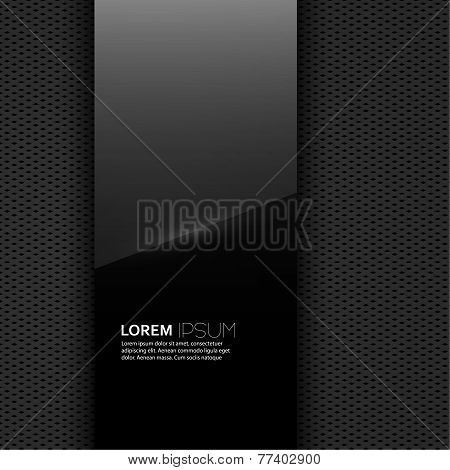 Dark glossy blank with a background texture