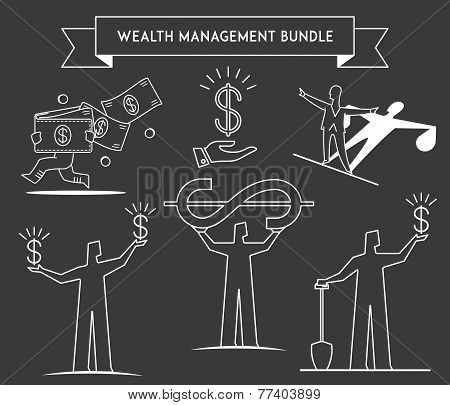 Bundle Wealth Managment White On Black