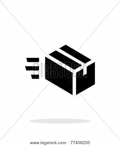 Fast delivery simple icon on white background.