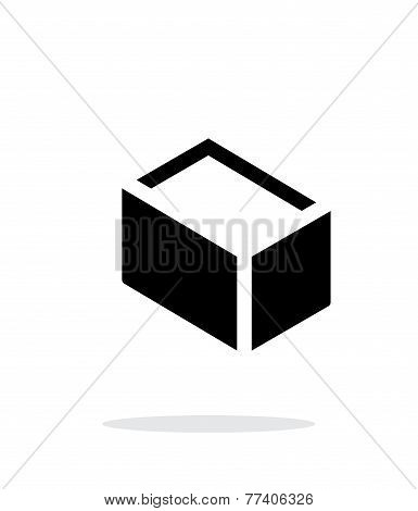 Empty box simple icon on white background.