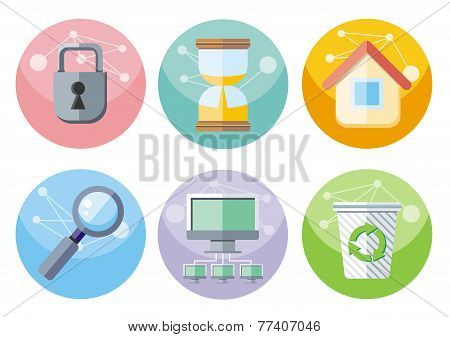 User interface icons set isolated on white