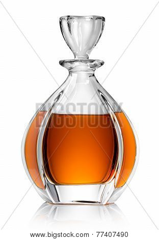 Carafe with whiskey