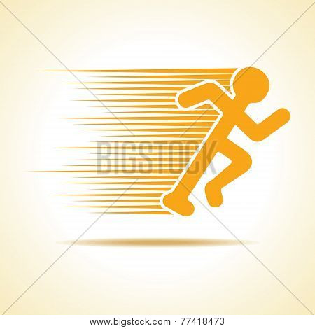 Running man icon stock vector