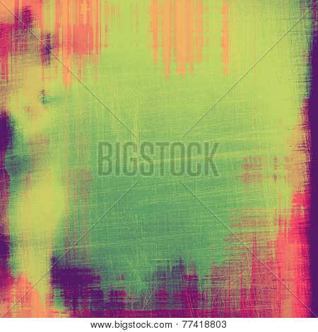 Antique vintage texture or background. With different color patterns: green; purple (violet); red; orange; yellow