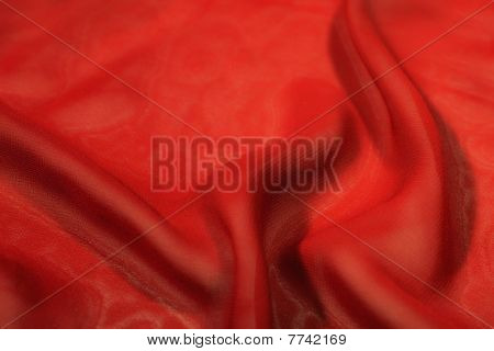 Red Silk Extreme Closeup