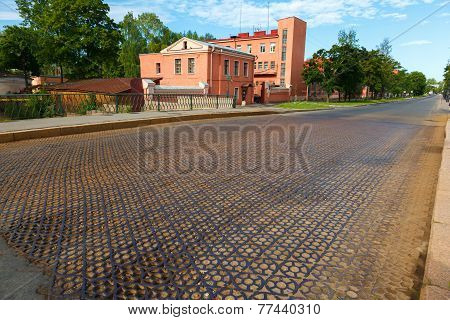 Iron Road Surface On Penkovy Bridge
