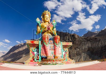 The Buddha Statue In Nubra Valley