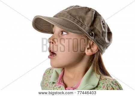 Listening - Girl In Green Hat