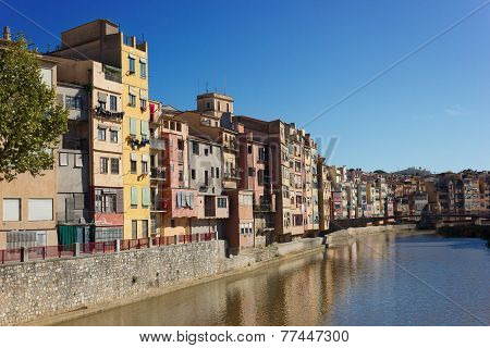 old town of Girona, Spain