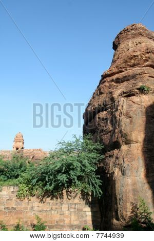 Rock Tip And Temple Tower