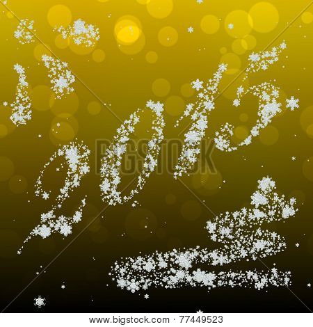 Snowing New Year 2015 Image Generated Hires Texture