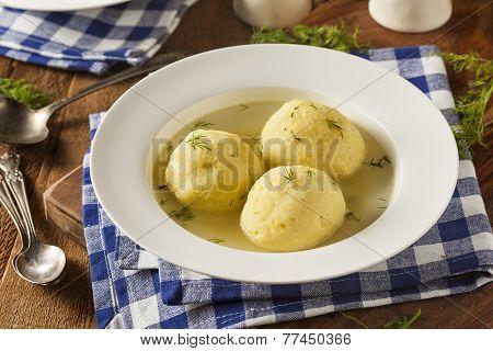Hot Homemade Matzo Ball Soup