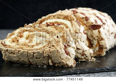 Toffee And Pecan Roulade