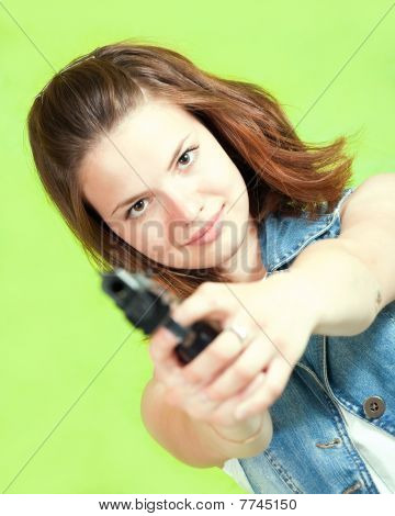 Aiming Girl