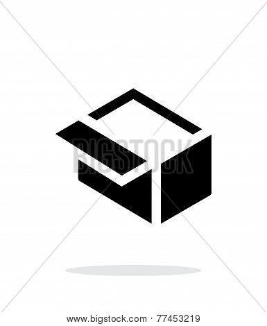 Open box simple icon on white background.
