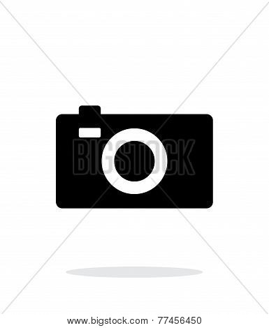 Digital camera simple icon on white background.