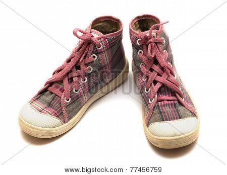 Pink Tartan Gumshoes