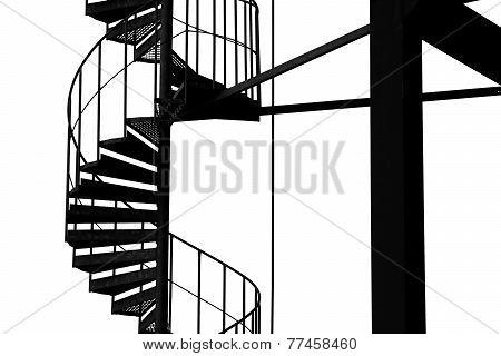 Spiral stairway structure.