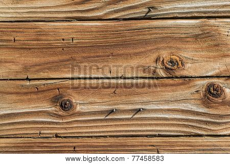 Weathered Wood Background With Knotholes