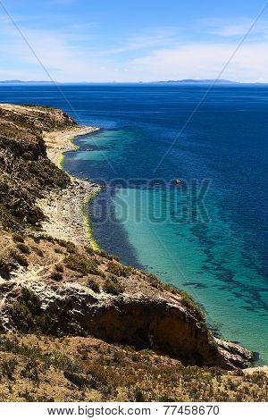 Isla del Sol in Lake Titicaca in Bolivia