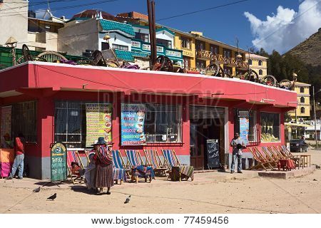Restaurant in Copacabana, Bolivia
