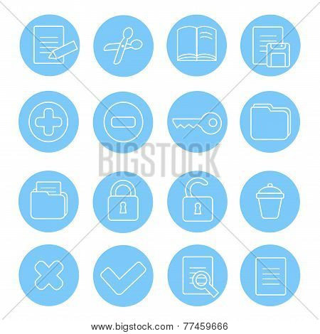 Navigation icon and buttons set.   illustration of different interface web icons