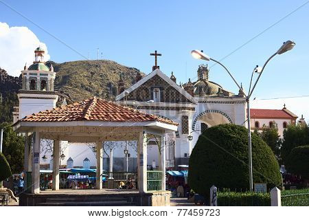 Main Square and Basilica in Copacabana, Bolivia