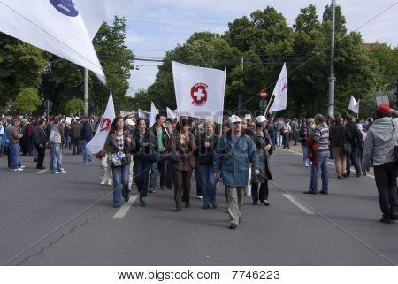 Manifestation in Bucharest Romania