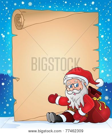 Christmas topic parchment 5 - eps10 vector illustration.