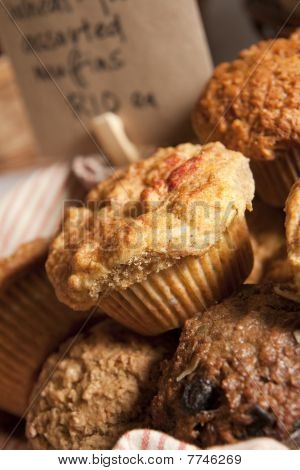 Muffins at bake sale