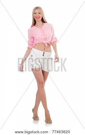 Young woman in fashion concept