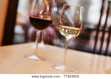 Wine tasting in bar