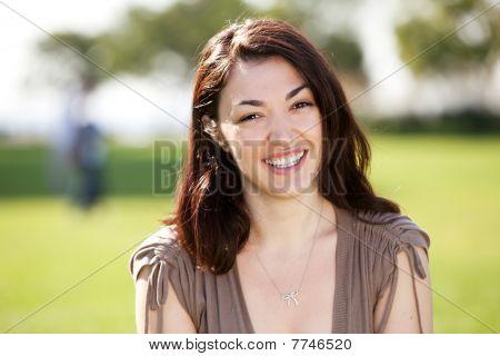 Happy Friendly Woman