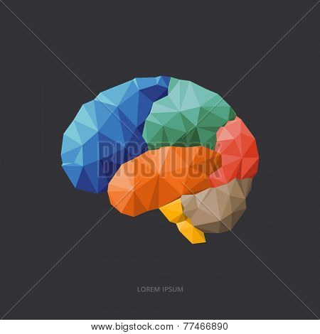 Triangle design concept - brain