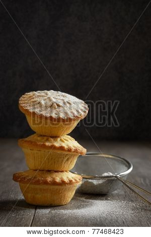 Stack of mince pies for Christmas