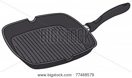 Square fry pan
