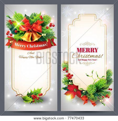 Christmas banners set. Vector eps 10.