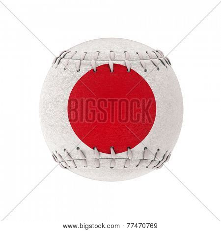 3d image of japanese baseball ball