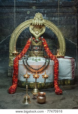 The Niruthi Shiva Lingam In Thiruvannamalai.