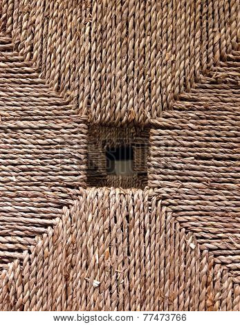 Woven Rattan With Natural Patterns.