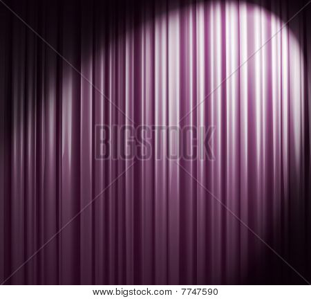 Violet-white Curtain With Spot