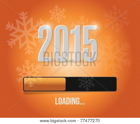 2015 Loading Year Bar Illustration Design