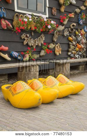 Big Yellow Dutch Clogs
