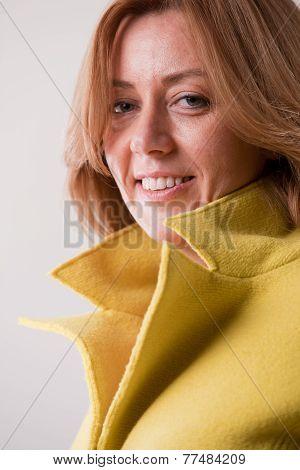 Blonde Mature Happy Woman Portrait