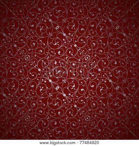 Red Damask Pattern