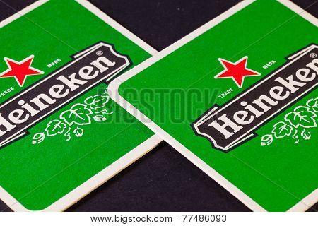 Beermats From Heineken Beer
