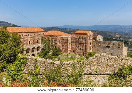 Byzantine city of Mystras, Peloponnes, Greece
