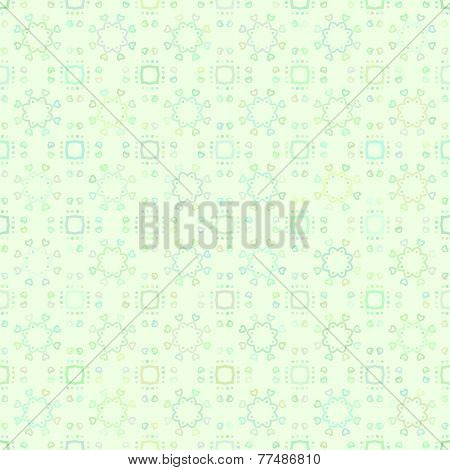 Abstract vector background Green line ornament Seamless texture