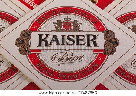 Beermats from Kaiser Beer