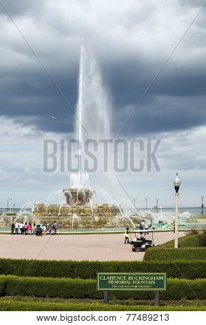 Clarence Buckingham Memorial Fountain At The Chicago Park District